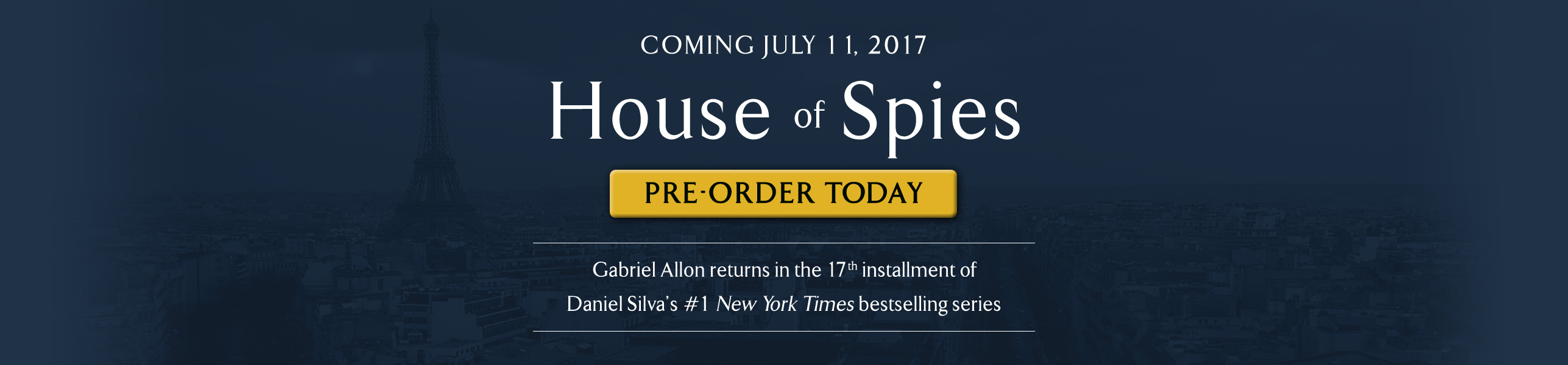House of Spies, Coming July 11 2017