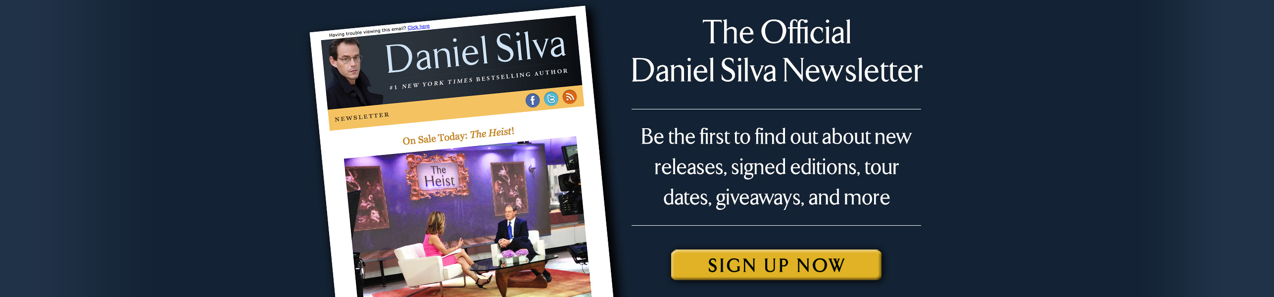 Join the Daniel Silva Newsletter